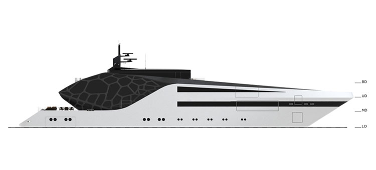 План палуб супер-яхты Анаконда (superyacht Anaconda)