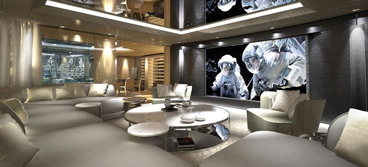 Interior superyacht Tankoa S693 by Francesco Paszkowski