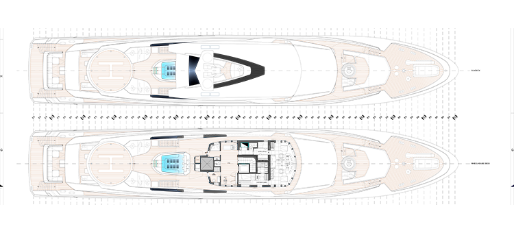 План палуб супер-яхты TANKOA S693