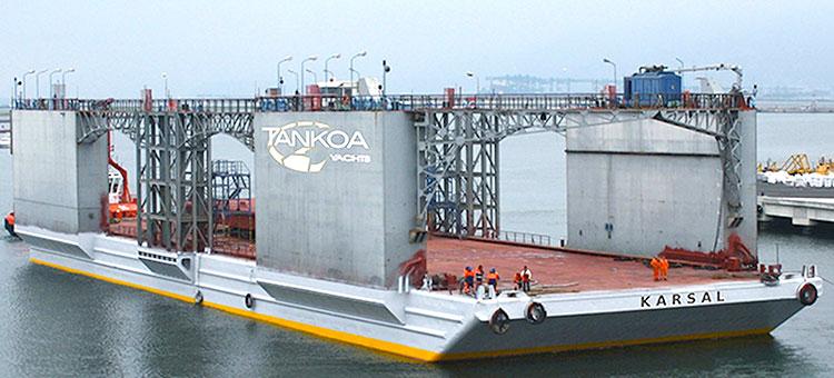 Самопогружающаяся модульная платформы KARSAL грузоподъемностью свыше 4 000 тонн