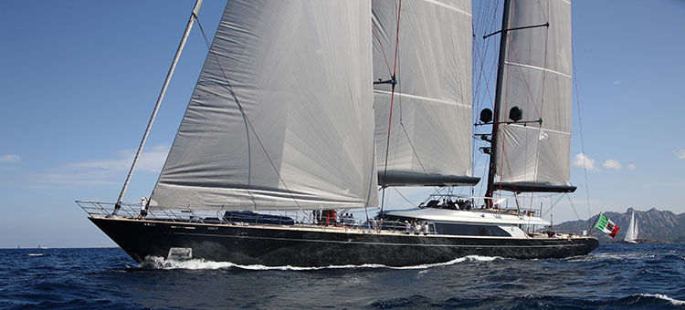 Perini Navi (exterior stylist) and Christian Liagre (interior designer) for 60m Perini Navi Seahawk