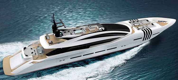 Team for Design By Enrico Gobbi for 48m Rossinavi Vellmari