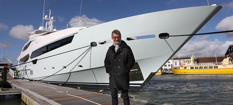 "Edmund ""Eddie"" Jordan and his Sunseeker 155 Yacht"