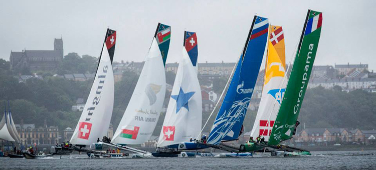 Extreme Sailing Series 2014 act 5 Cardiff