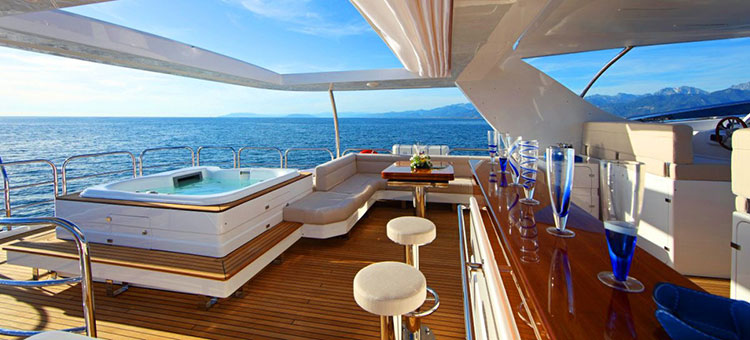 Benetti Delfino 93 interior for example