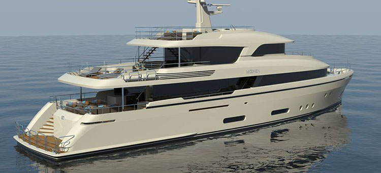 120ft superyach Martinique by Monnen Shipyards
