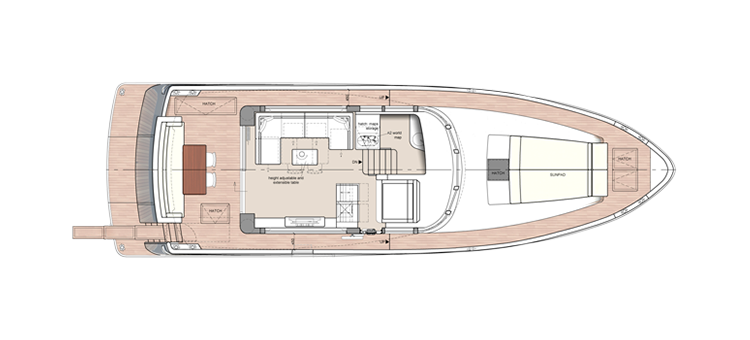 Storm Yachts X-53 F layout