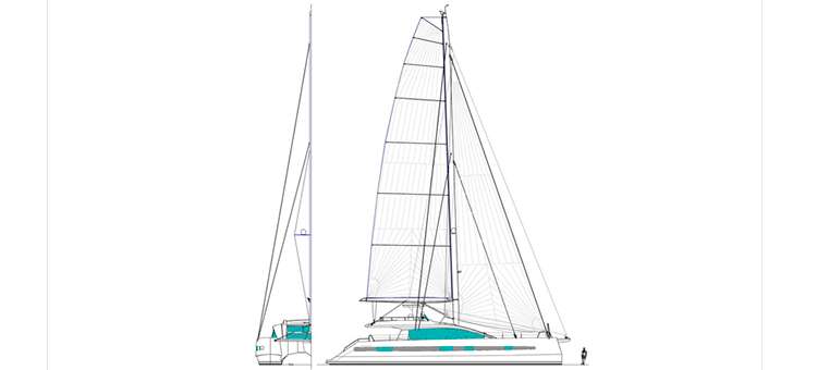 JFA Yachts Long Island 85 plan