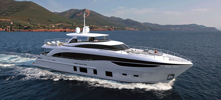 Рендеринг модели Princess 35M от Princess Yachts
