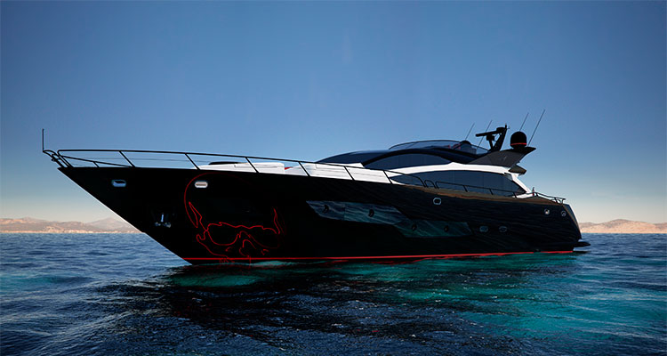 30-метровая яхта Black Legend (Sunseeker)