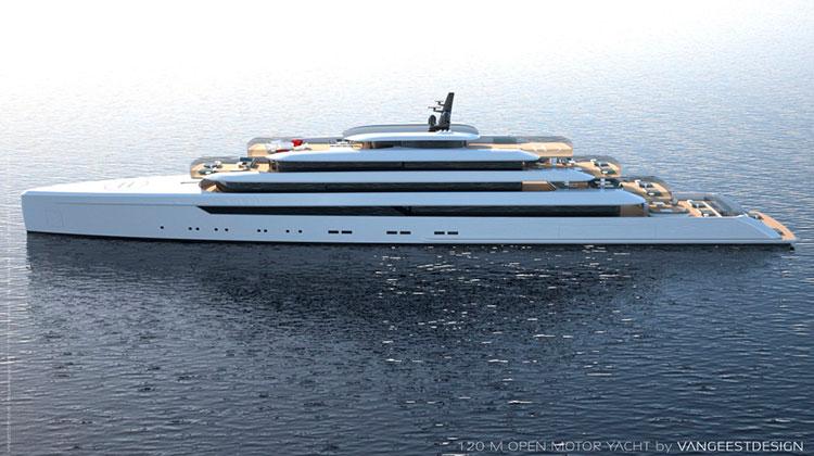 Open 120m motor yacht by Van Geest Design