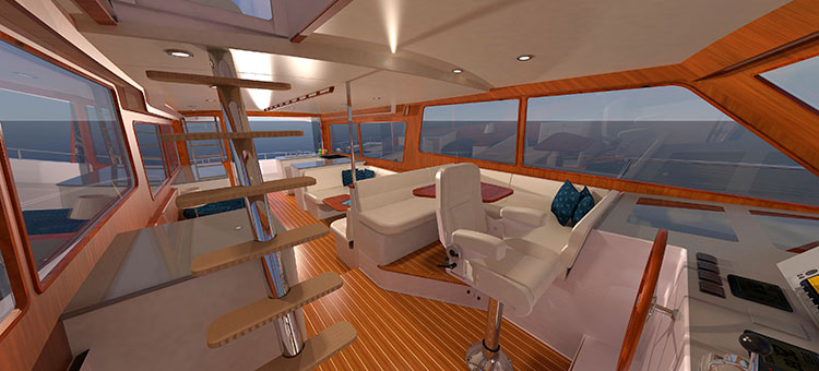 Траулер Duffield-58 (Zurn Yacht Design и Duffy Electric Boat) - интерьер