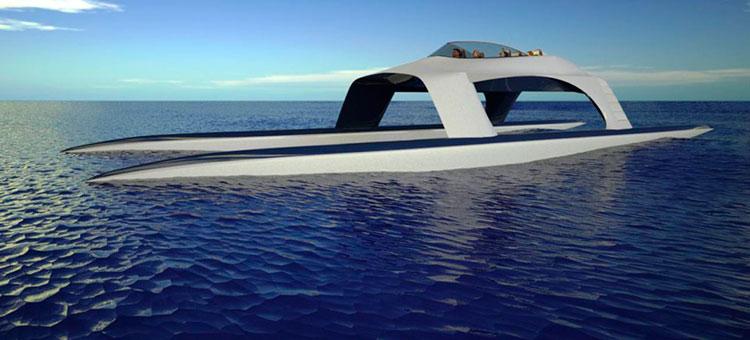 Катамаран HS18 от Glider Yachts разгонится до 100 узлов