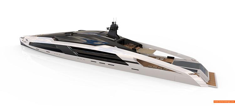 Гибридная мега-яхта из стекла и стали Aqueous 120