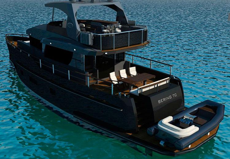 фото черная яхта