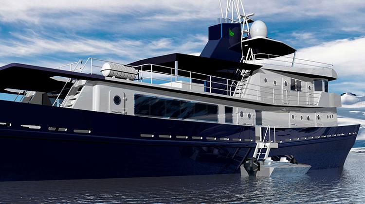 Проект рефита судна ВМФ под супер-яхту ледового класса Antares 41m (Pioneer Motor Yachts)
