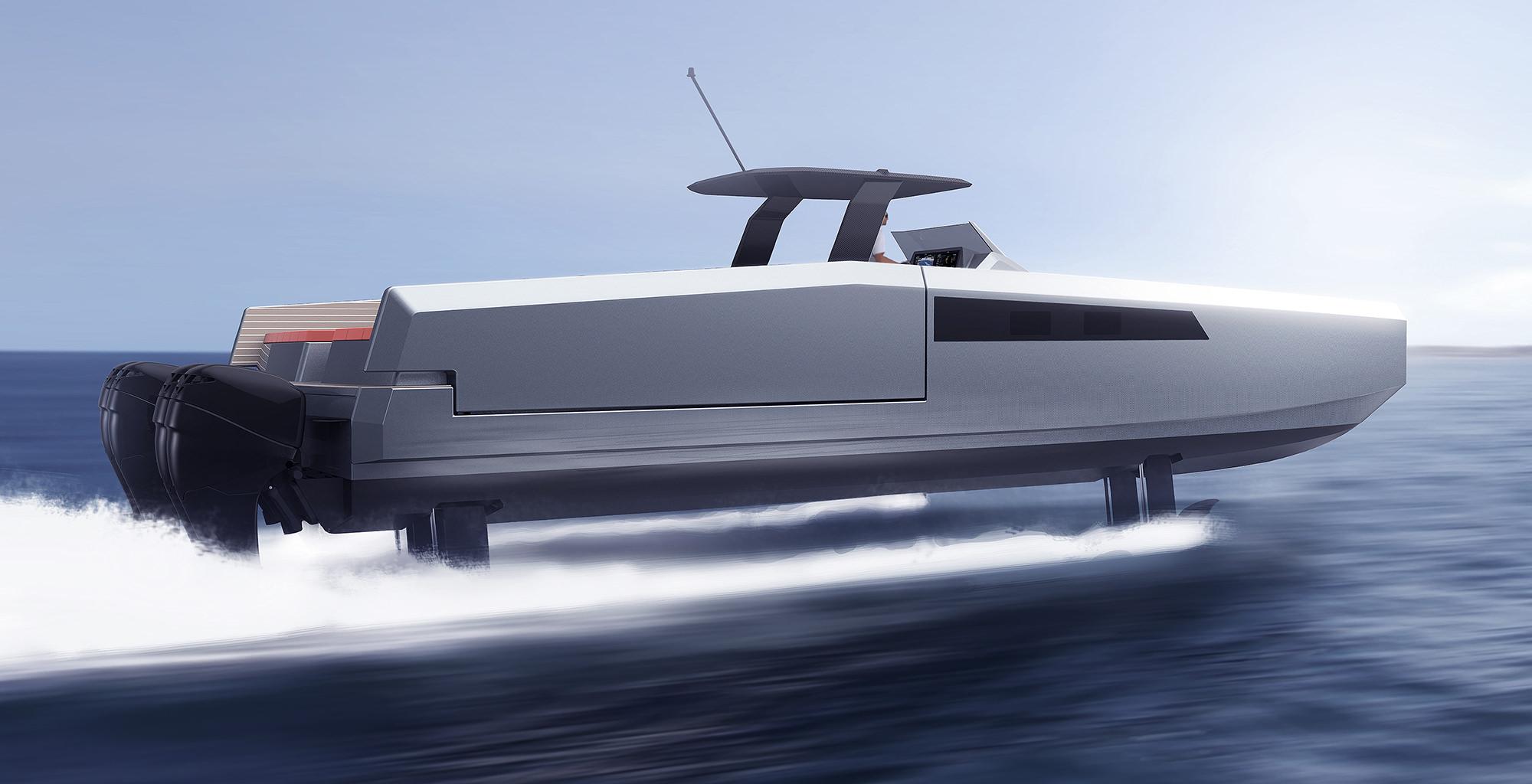 Версия на подводных крыльях Sunreef 40 Open Power H